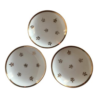 Porcelain with Gold Fleur De Lis Trinket Dishes - Set of 3