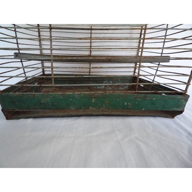 Antique Large Green Asian Inspired Birdcage - Image 7 of 8