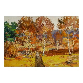 Birch Tree Landscape 1945 Painting