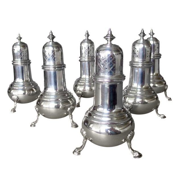 Antique Sterling Salt & Pepper Shakers - Set of 6 - Image 1 of 9