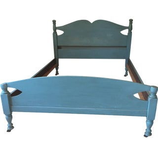 Rustic Blue Full Bedframe
