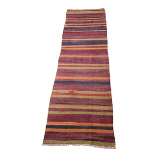 "Turkish Hallway Wool Kilim - 9'5"" x 2'6"""