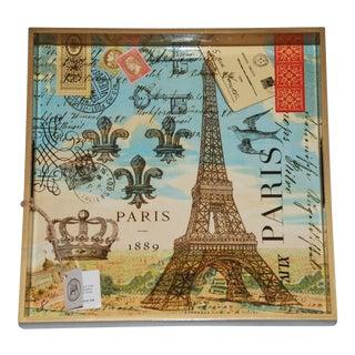 Paris Decoupage Wooden Tray
