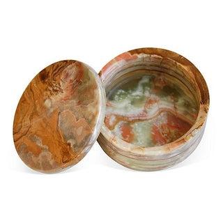 Carved & Polished Onyx Stone Box
