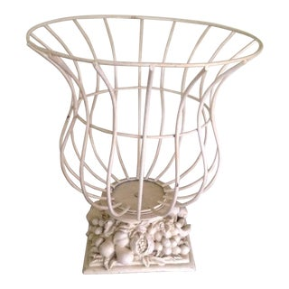 Vintage French Style Wire Garden Urn Planter