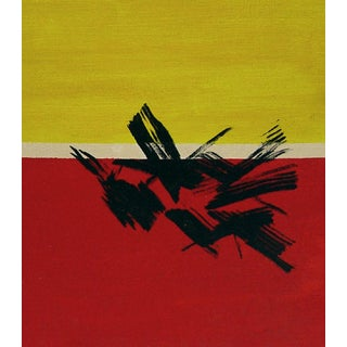 Red & Yellow Horizon Oil on Canvas Board
