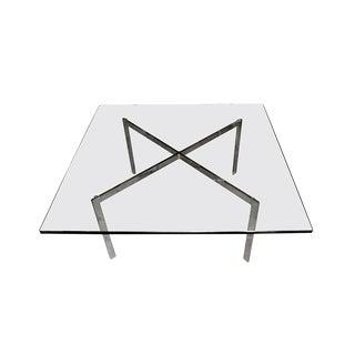 Ludwig Mies van der Rohe Knoll Barcelona Glass & Steel Coffee Table