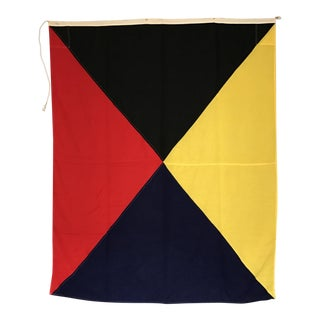 "Vintage Nautical Flag Signal ""Z"""