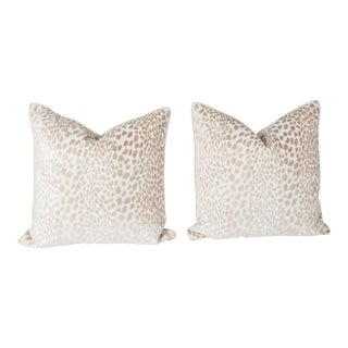 Velvet Spotted Cheetah Pillows - A Pair