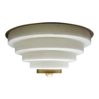 Gold & White Wedding Cake Flush Mount Fixture