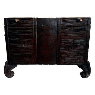 Antique Swiss Black Forest Trunk