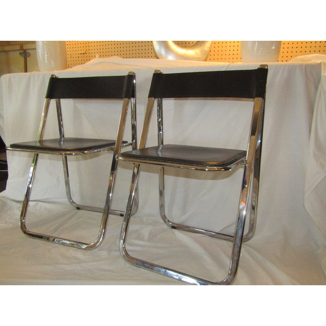 Aarben Italian Folding Chairs - A Pair - Image 2 of 7