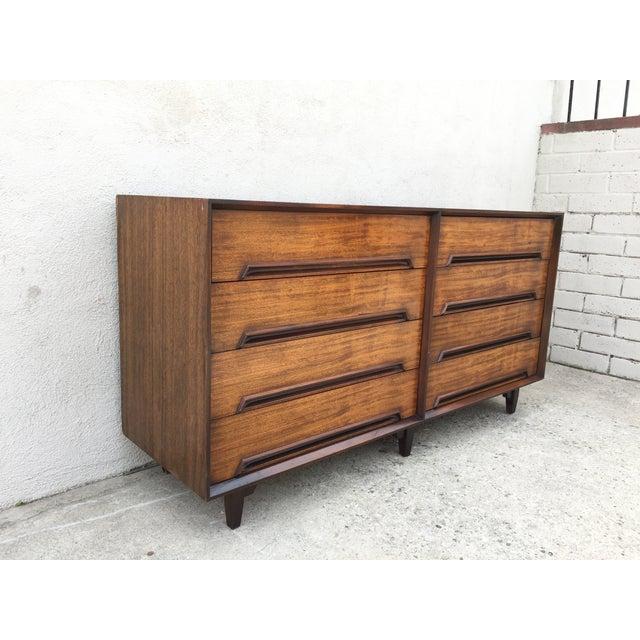 Mid-Century Walnut Wood Dresser - Image 9 of 11