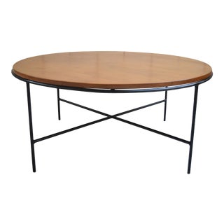 Paul McCobb Mid Century Modern Iron Base Round Coffee Table