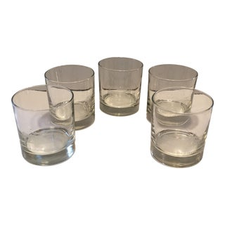 1960's USC The Gamble House Monogrammed Crystal Glasses - Set of 5