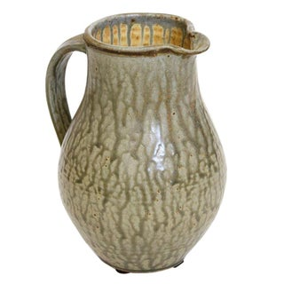 Green Studio Pottery Pitcher