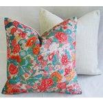 Image of Sale! 4 Summer Floral Linen Pillow Covers - Set 4