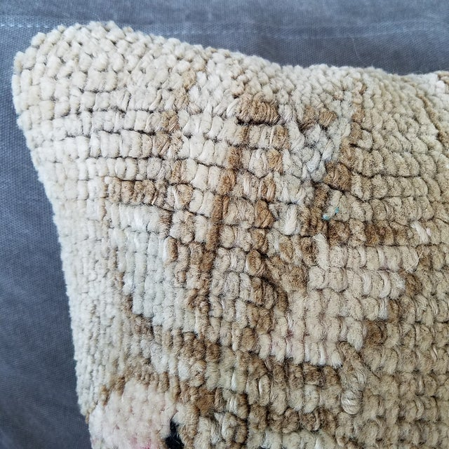 Vintage Turkish Rug Fragment Pillow - Image 4 of 10
