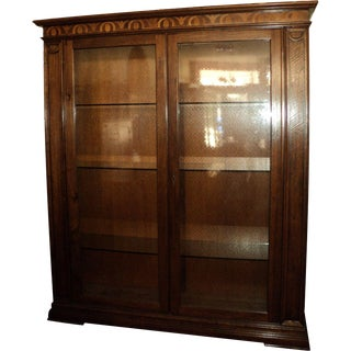 Inlaid Wood China Cabinet