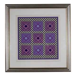 Victor Vasarely 'Jatek' Color Pencil Serigraph