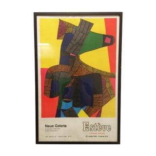Maurice Esteve Expo Neue Galerie Poster 1969
