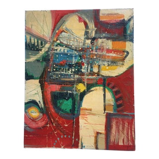 Vintage Mid Century Modern Abstract Painting