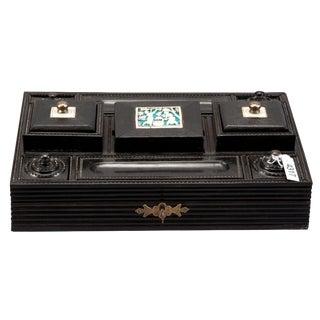 Anglo Raj Ebony & Ivory Desk Set