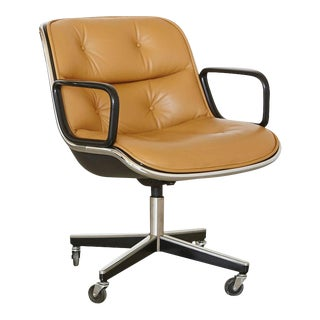 Original Charles Pollock Executive Chair Upholstered in Edelman Leather