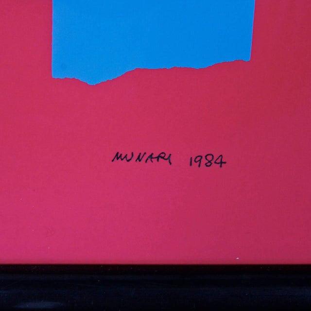 Bruno Munari Screen Print Hand Signed, 1984 - Image 4 of 7