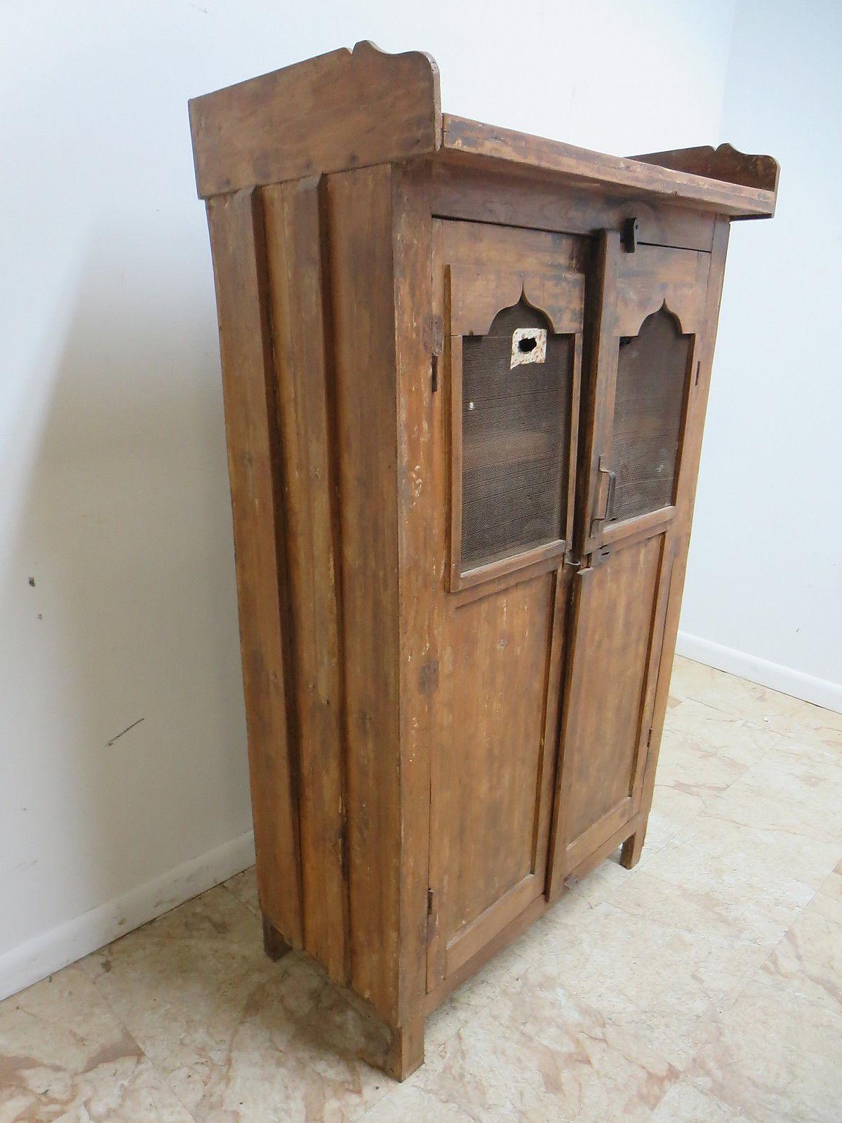 Antique Primitive China Cabinet Cupboard   Image 3 Of 8