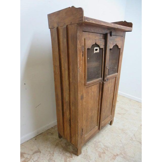 Image of Antique Primitive China Cabinet Cupboard