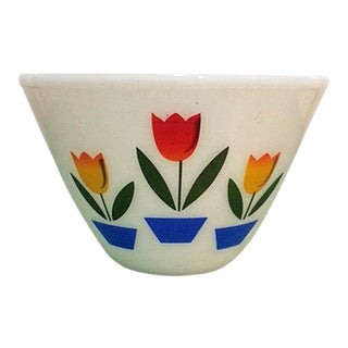 Vintage Anchor Hocking Fire-King Tulips Mixing Bowl