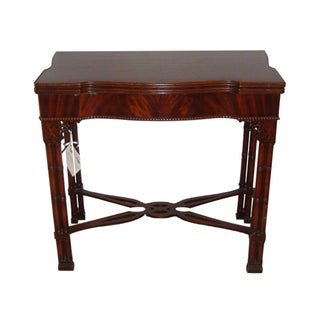 Chippendale Serving-Card Table