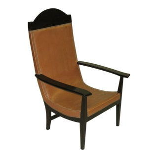Pair of French Modern Neoclassical 'Throne' Armchairs