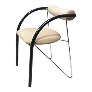 Danish Modern Chrome Armchair
