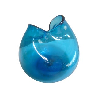 Blenko Pinched Glass Hand-Blown Vase