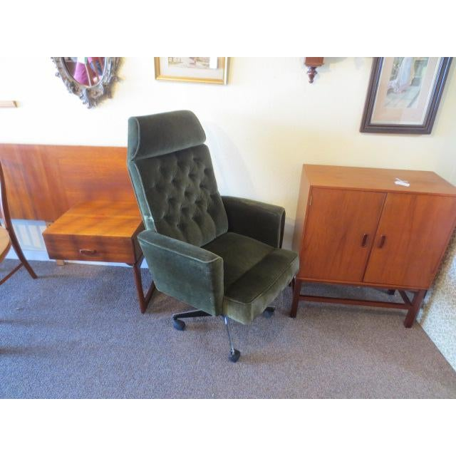 C. 1970s Green Office Chair - Image 5 of 7