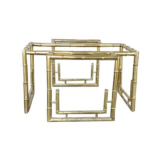 Hollywood Regency Faux Bamboo Coffee Table