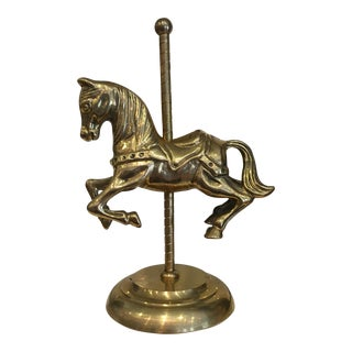 Vintage Brass Horse on Carousel