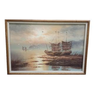 K. Thomas. Signed Maritime Painting
