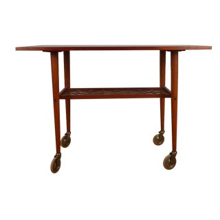 Vintage Danish Modern Teak Bar Cart