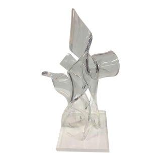"Morton ""Buddy"" Mevorach Plexiglass Sculpture"