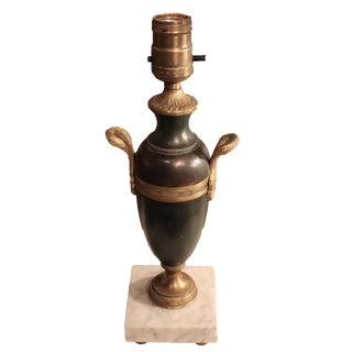 Vintage Bronze Urn Lamp