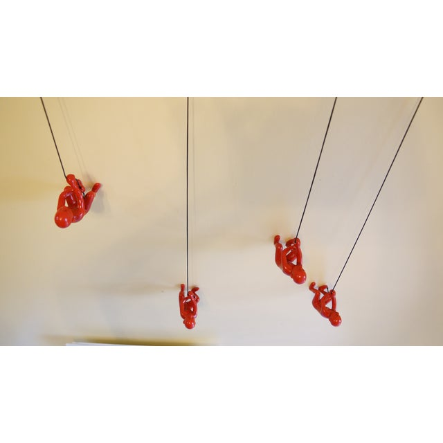 Red Position 3 Climbing Man Wall Art - Set of 4 - Image 5 of 6