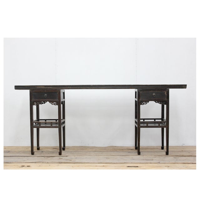 Antique Sarreid LTD Ming Style Console Table - Image 3 of 5