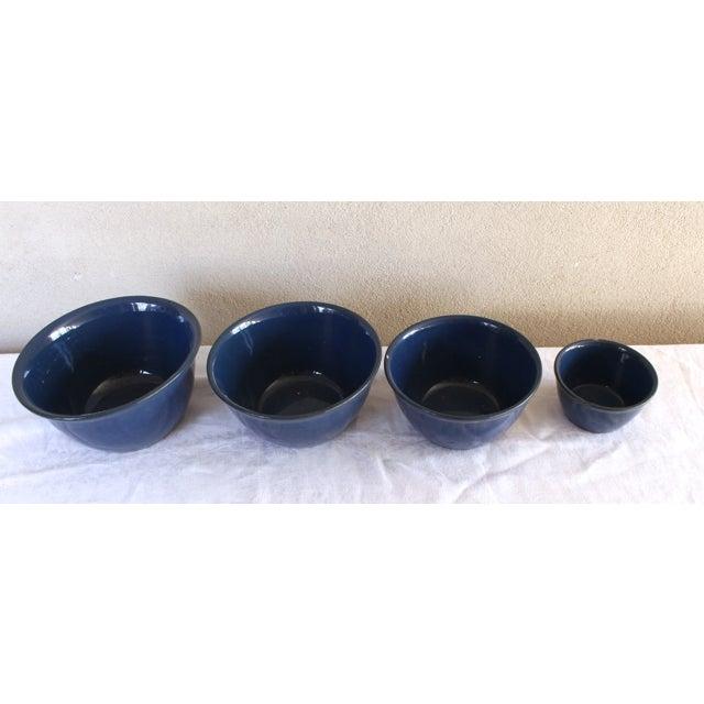 Image of Antique Cobalt Blue Bowls - Set of 4