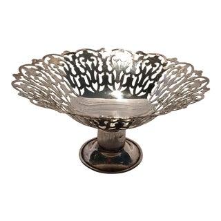 Vintage English APEX Silver Plated Bon Bon Dish