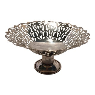 Vintage English APEX Silver Plated Bon Bon Dish
