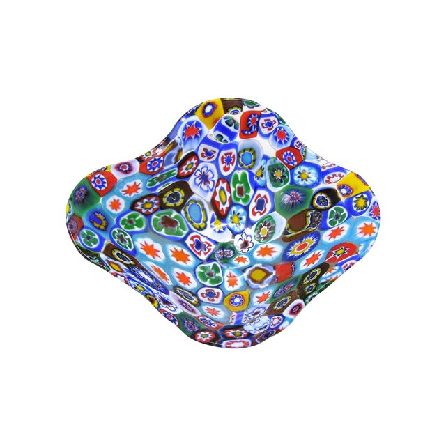 Image of Fratelli Toso Millefiore Mosaic Murano Glass Bowl