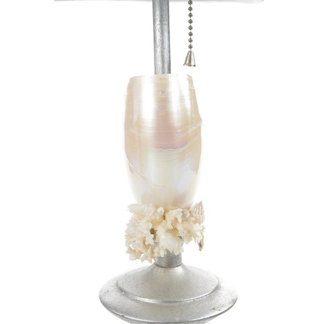Silver Seashell Table Lamps - A Pair - Image 7 of 8